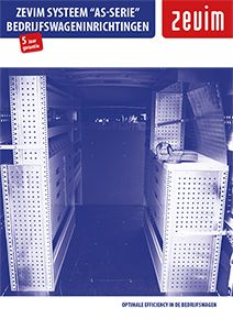 Zevim bedrijfswageninrichtingen systeem AS-serie. Aluminium-staal serie. Online brochure met het assortiment van Zevim.